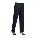 Ladies Black Aura Straight Leg Trouser Image