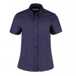 Kustom Kit Womens Short Sleeve Shirt Navy Image