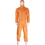 Blue disposable type 5/6 hooded coverall Image