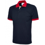 Uneek Contrast Navy/Red Poloshirt Image