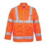 Orange Hi-Vis Polycotton Jacket Image