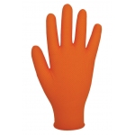 NOT AVAILABLE Finite orange HD nitrile disposable gloves  Image