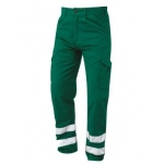 Nusafe Multi-Functional Combat Trouser Bottle Green With Hi Vis Banding Image