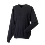 Russell Mens V-Neck Knitted Pullover  Image