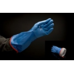 40cm Blue Nitrile Dipped Lined Gauntlet (Pack of 6) Image