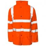 Unlined Orange Waterproof Jacket Image