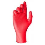 JUST 1 GRIP SAFE RED NITRILE DISPOSABLE GLOVE- BOX/50 Image