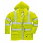 Lightweight Waterproof Hi Vis Jacket Yellow Image