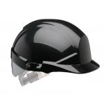 Centurion Reflex Mid Peak Helmet Black With Silver Flash Image