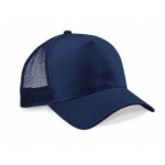 Navy Peaked Cap with Mesh Panels Image