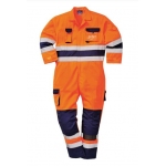 Orange/Navy High Vis Coverall Image