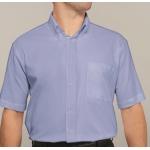 Oxford Short Sleeve Disley Shirt Blue  Image