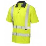 Hi-vis yellow cool vis plus short sleeved polo shirt Image
