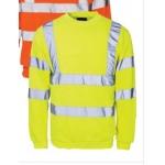 Value hi-vis sweatshirt yellow  Image
