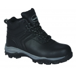 Black Leather Waterproof Metal Free Hiker S3  Image