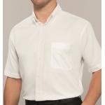Oxford Short Sleeve Disley Shirt White  Image
