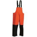 Fishing Extreme Waterproof Bib & Brace Orange/Navy Image