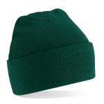 Bottle Green Cuffed Beanie Hat Image