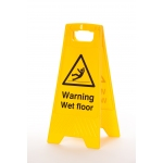 Self Standing Double Sided Wet Floor Sign Image