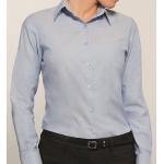 Disley Ladies Blouse Long Sleeved Blue Image