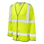 Long Sleeve Hi Vis Waistcoat (Cool-Vis) Yellow Image
