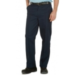 Mens 7oz Navy Harpoon Drivers Trousers With Sewn-in Crease Image