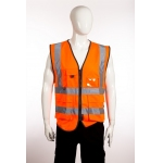 EN471 Class 2 Executive Waistcoat Orange Image