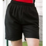 Finden and Hales ladies black microfibre shorts Image