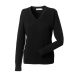 Russell Ladies V-Neck Knitted Pullover  Image
