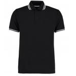 Black/White tipped Pique Poloshirt  Image