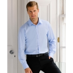 Russell Collection Mens Long Sleeved Herringbone Shirt Image
