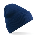 Cuffed beanie hat with turn up navy Image