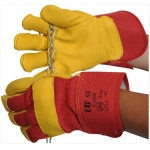 Yellow Cowhide Rigger Glove Size 10 Image