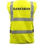 Yellow Hi Vis Waistcoat with Rear Banksman heatseal Image