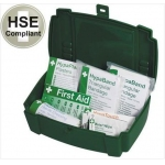 Travel First Aid Kit in Green Plastic Carry Case Image