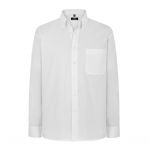 Disley Mens Oxford Shirt Long Sleeve Button Down Collar White Image