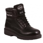 Black Leather Derby Boot With Steel Midsole  Image