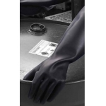 Chemprotec Heavyweight 44cm Unlined Natural Rubber Glove Black Size 10 Image