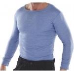 Thermal Long Sleeve Vest Blue  Image