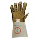 Anti-Syringe Steel Reinforced Leather Gauntlet - Pair Image