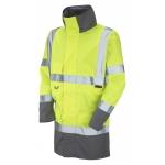 Waterproof Breathable Lightweight Hi-Vis Yellow/Grey Anorak  Image