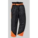 Black/Orange Chainsaw Trousers  Image