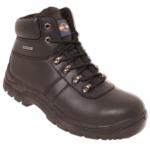Waterproof Lace-Up Black S3 Trekker Boot Image