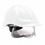Safety Helmet With Integral Pull Down Visor Image