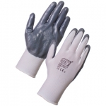 Nitrotouch Handler Glove Nitrile Palm Coated Grey/White  Image