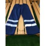 NAVY Polycotton trousers c/w hi vis banding Image