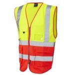 Executive High Vis Waistcoat Yellow/Red Image