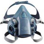 3M Respiratory Non Powdered Silicone Half Mask Image