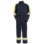 Flame Retardant Boilersuit Navy/Yellow Image