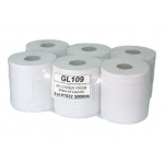 White Centrefeed Rolls (Pack of 6) Image